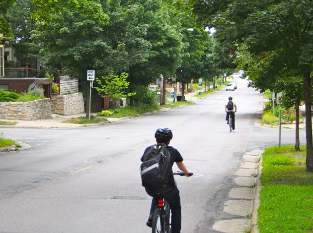City officials are evaluating bikeway options for a one-mile stretch of 24th Street. Photo courtesy of City of Minneapolis