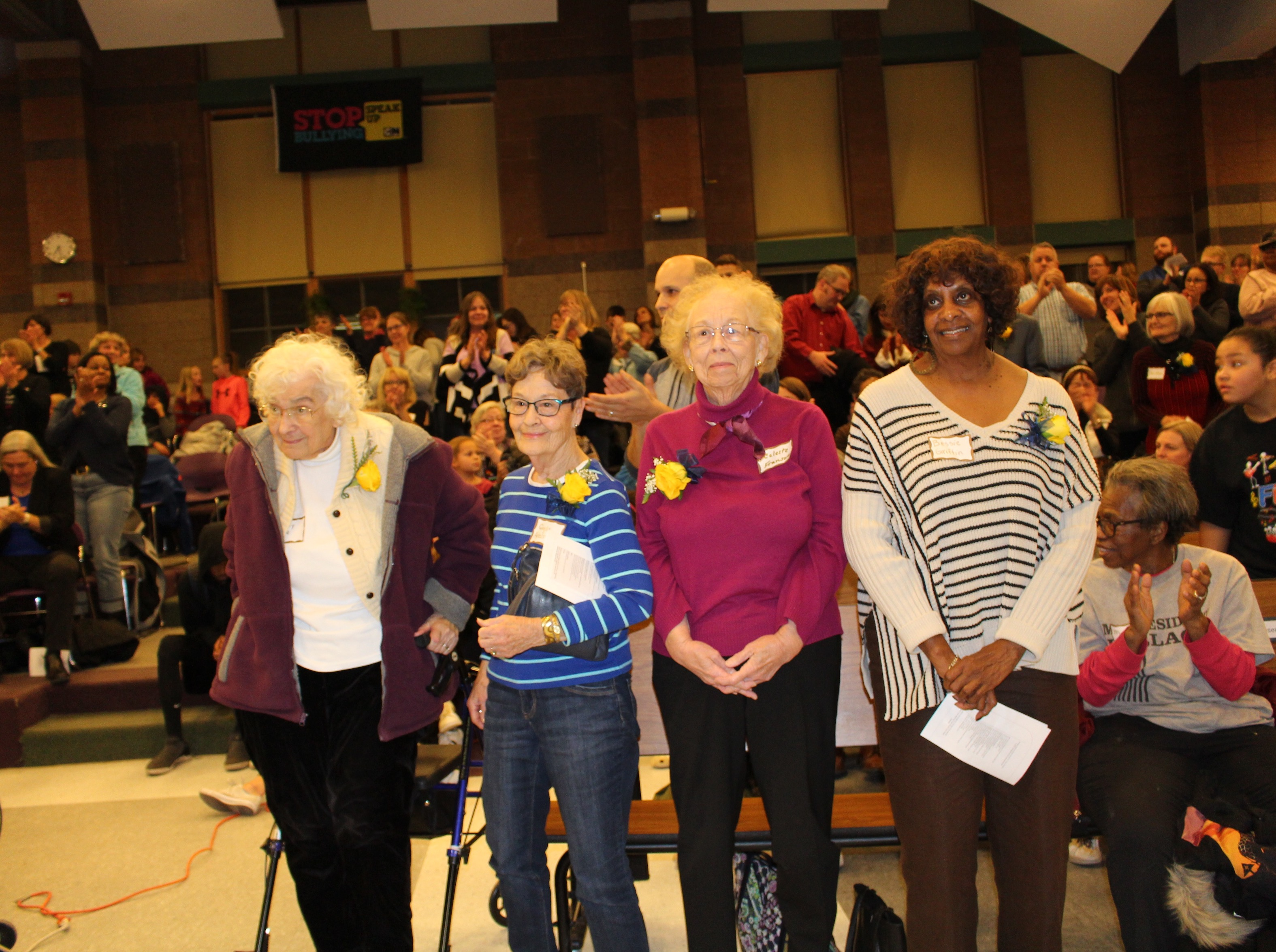 Hale and Field elders (from left to right) Gerry Sell, Gayle Adelsman, Celeste Franson and Bessie Griffin were among those honored Nov. 9. Photos by Nate Gotlieb