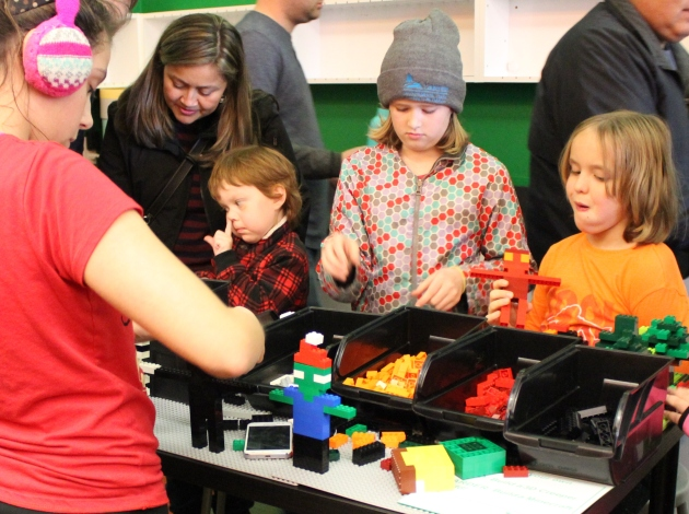 Kids roasted marshmallows and played with Legos at Snapology's grand opening in November at 2649 Lyndale Ave. S.