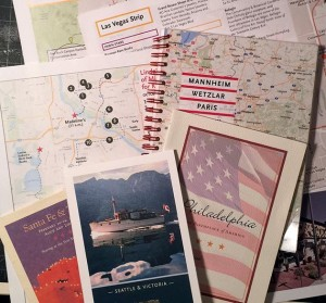 A sampling of the author's homemade guidebooks. Photo by Linda Koutsky