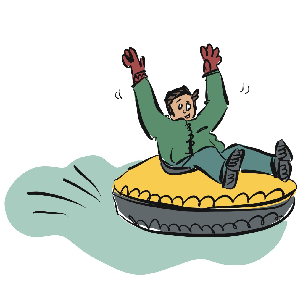 Sledding illustration