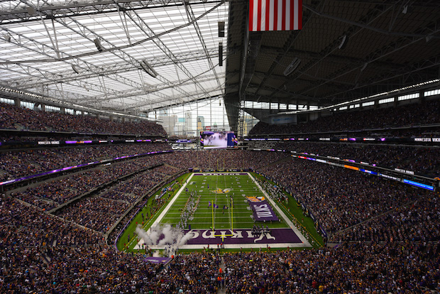 U.S. Bank Stadium, host of Super Bowl 52. Photo courtesy the Minnesota Vikings