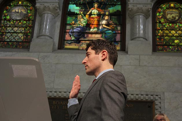 Mayor Jacob Frey has made affordable housing, economic inclusion and police-community relations his top priorities. Photo by Dylan Thomas