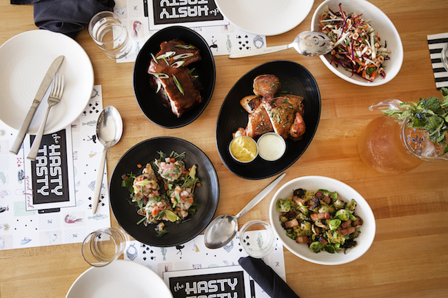 An array of Hasty Tasty dishes