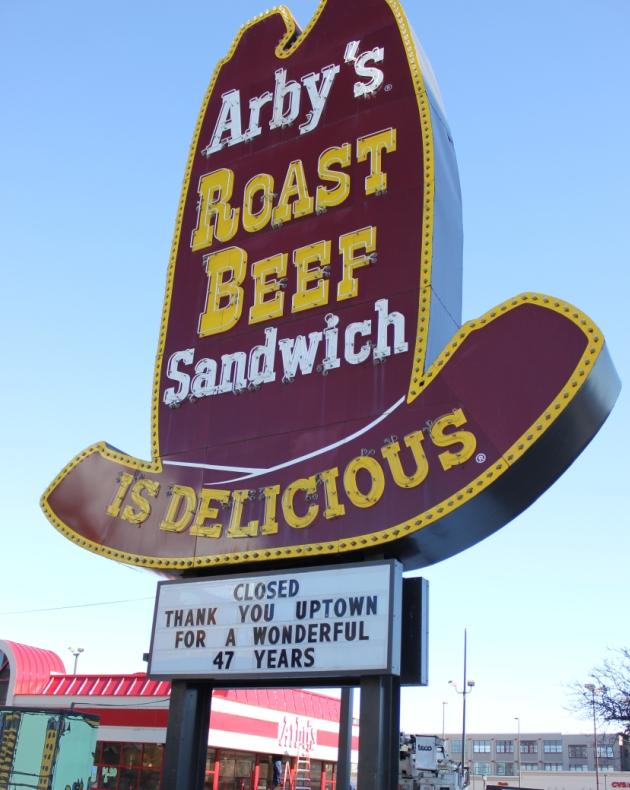 Arby's closed in late January at 1116 W. Lake St.
