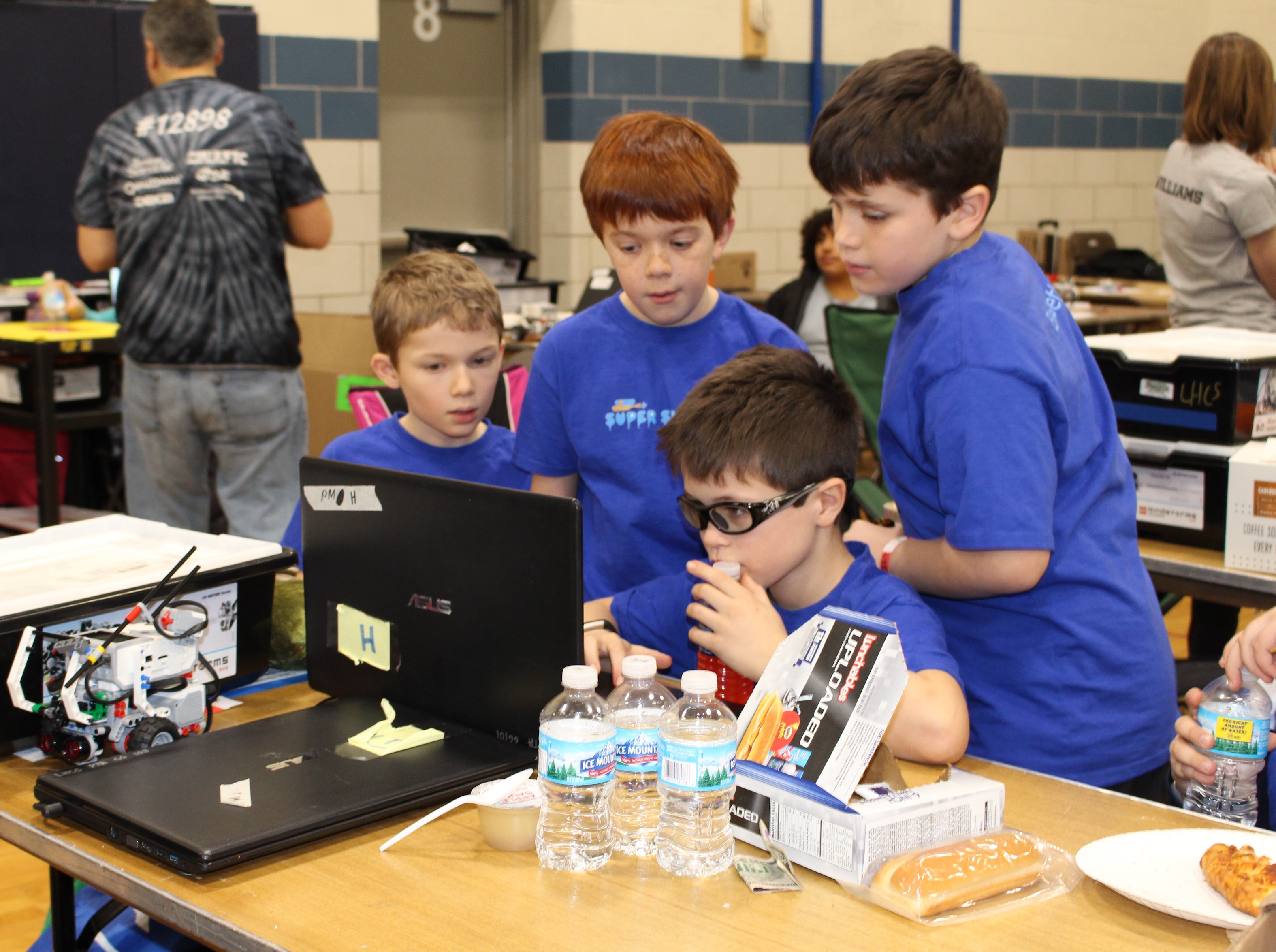 Lake Harriet fourth-graders Mason Eberly, Aidan Allen, Jacob Belseth and Clark Burdick (sitting).