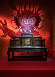A Chinese imperial throne dating from the 18th century. Submitted image