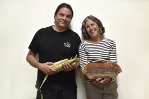 "Sean Sherman with Beth Dooley, co-author of ""The Sioux Chef's Indigenous Kitchen."" The cookbook delves into Sherman's roots and the philosophy driving a revival of indigenous cuisine. Submitted image"