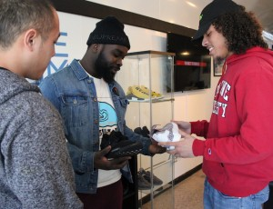 """Co-owners of The Sole Room (l to r) are Tou Chue Moua, Anthony Oyewo and Rashawn """"Reezy"""" Shaver."""