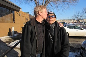 "Jay Walsh and Norm Rogers in Sioux Falls last month. ""I have the wisdom of a dying man,"" Norm told us. ""I find pleasure in everything. I cherish every moment."" Photo by Jim Walsh"