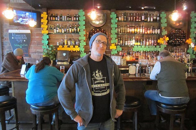 Paul Crilly of Morrissey's Irish Pub. The five-year-old Uptown bar and tearoom is an essential stop on any St. Patrick's Day pub crawl. (Photo by Jim Walsh)