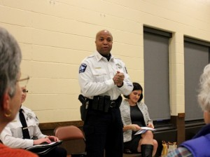 Police Chief Medaria Arradondo speaks about Justine Damond's case at Pershing Park Feb. 26.