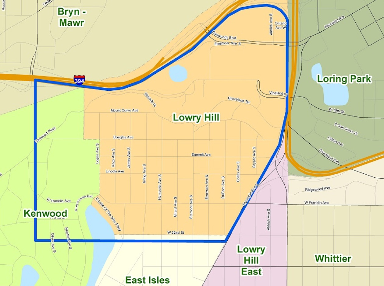 The proposed treatment area.