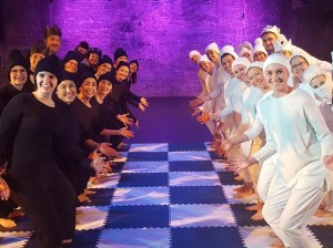 Dancers ages 18 to 80 were part of a chess-themed dance video that Fulton resident Pam Gleason created this winter. Submitted photo