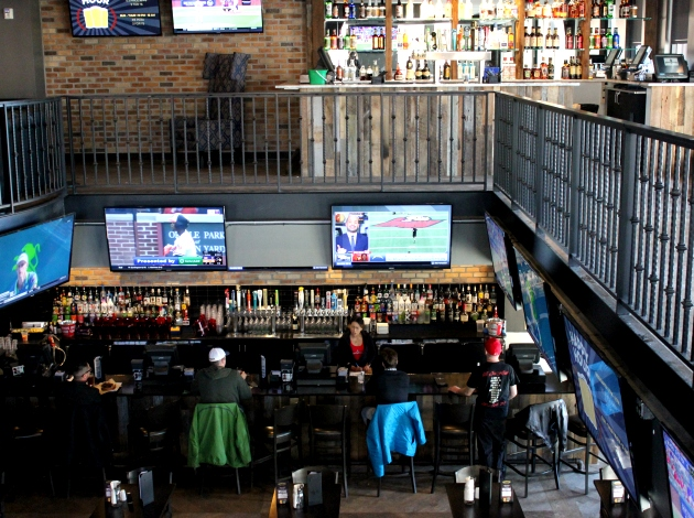 The Pourhouse Uptown is sports bar by day, party bar by night.