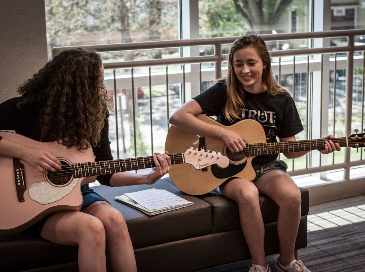 Strut: Guitar Festival will include 26 hours of workshops for students on May 18. Students are pictured here during last year's festival.
