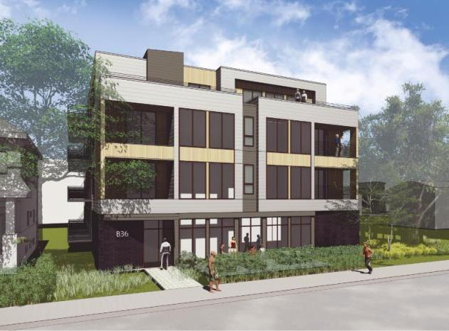 The Planning Commission approved a proposal for 41 apartments on the site of the former Southwest Senior Center at 3612 Bryant Ave. S. Rendering by Collage Architects