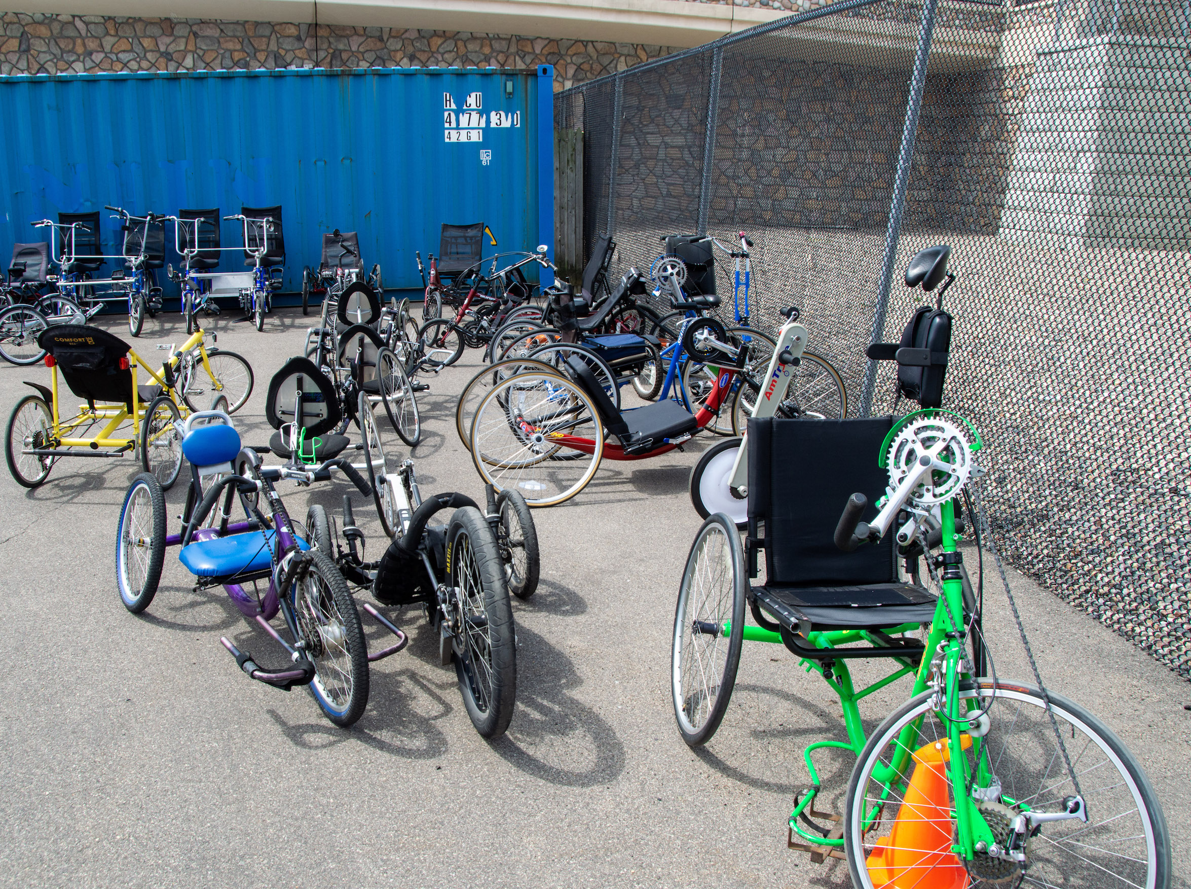 Twin Cities Adaptive Cycling offers recumbent tricycles that users can pedal with their hands or their feet. The organization can modify bikes for people who only have mobility on one side of their body. Submitted photo