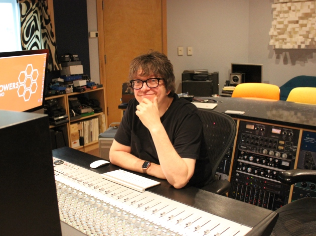 Ed Ackerson at the Flower Studio console.