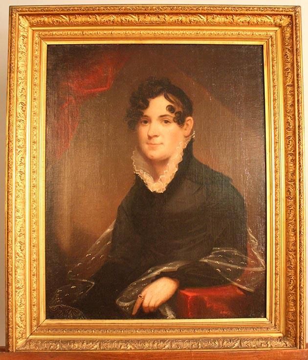 The only existing image of Harriet Lovejoy Leavenworth, circa 1815. (Oil painting by John Wesley Jarvis, courtesy of the Frontier Army Museum.) Submitted image