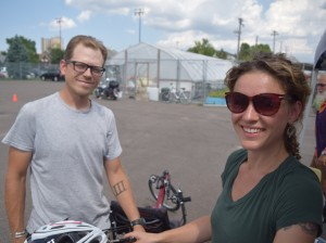 Twin Cities Adaptive Cycling founders Caito Bowles-Roth and Tommy Dixon. Submitted photo courtesy Bill Belknap, Hennepin County Public Health