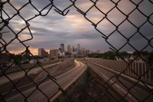 The now-closed 24th Street pedestrian bridge provided iconic skyline views to shutterbugs since the 1970s. Photos by Chris Juhn