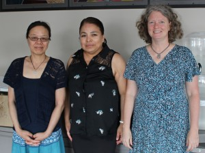 Li Sun, Veronica Vital and Kristi Papenfuss (left to right) are opening a Montessori trilingual-immersion school this fall. Photo by Nate Gotlieb