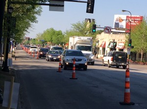 City and Metro Transit leaders received positive feedback on a bus-lane project last month along Hennepin Avenue. Photo courtesy City of Minneapolis