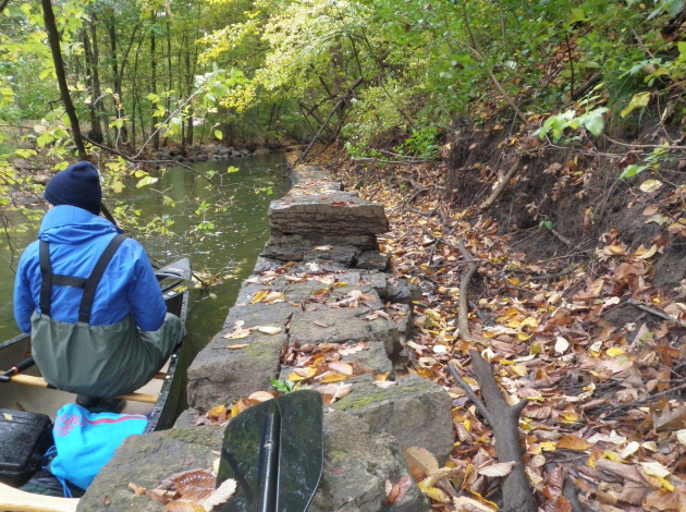 FEMA will repair or remove aging streambank walls along the creek. Photo courtesy of the Minnehaha Creek Watershed District
