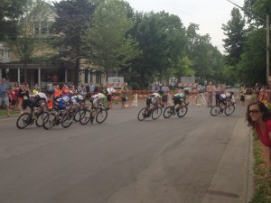 Cyclists round a corner of the Uptown Criterium stage of the 2015 North Star Grand Prix. Photo by Dylan Thomas