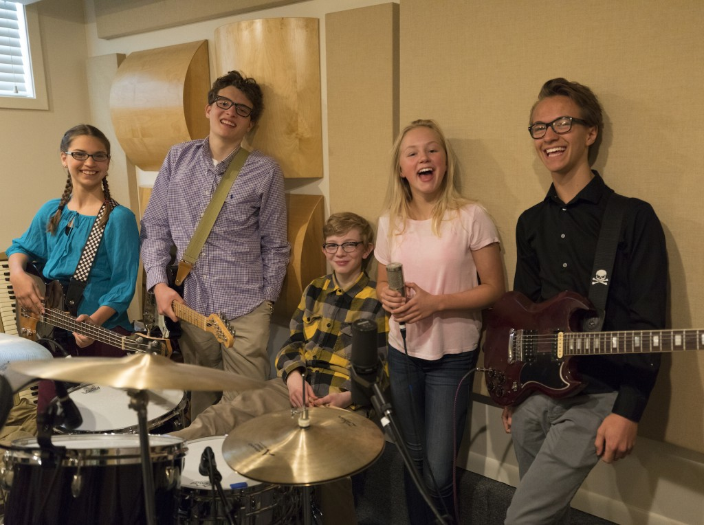 From left to right: Misha, Trey, Eddie, Anja and Cole. Photo by Per Breiehagen