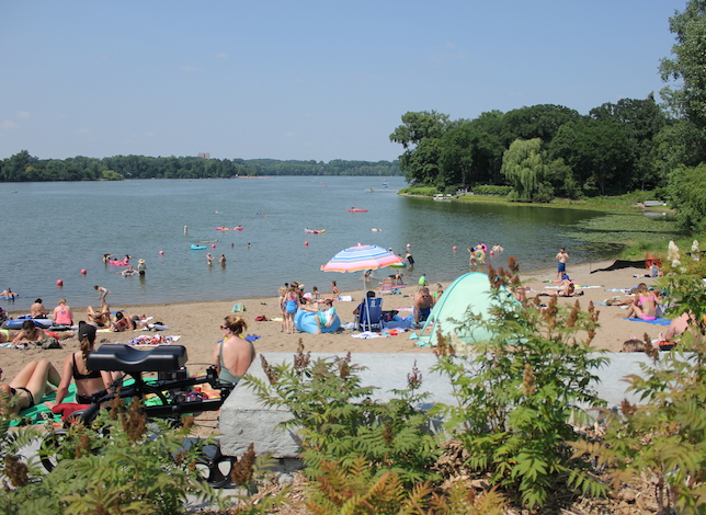 Cedar Lake South Beach, pictured on a recent July weekend.