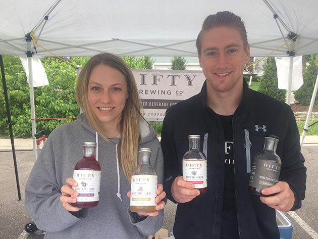 Carmen Buchi and Justin Lilley of Nifty Kombucha. Submitted photo