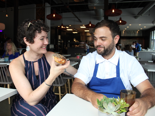 Laurel Elm and Adam Eaton at Meyvn, now open in the former Tinto Kitchen space.
