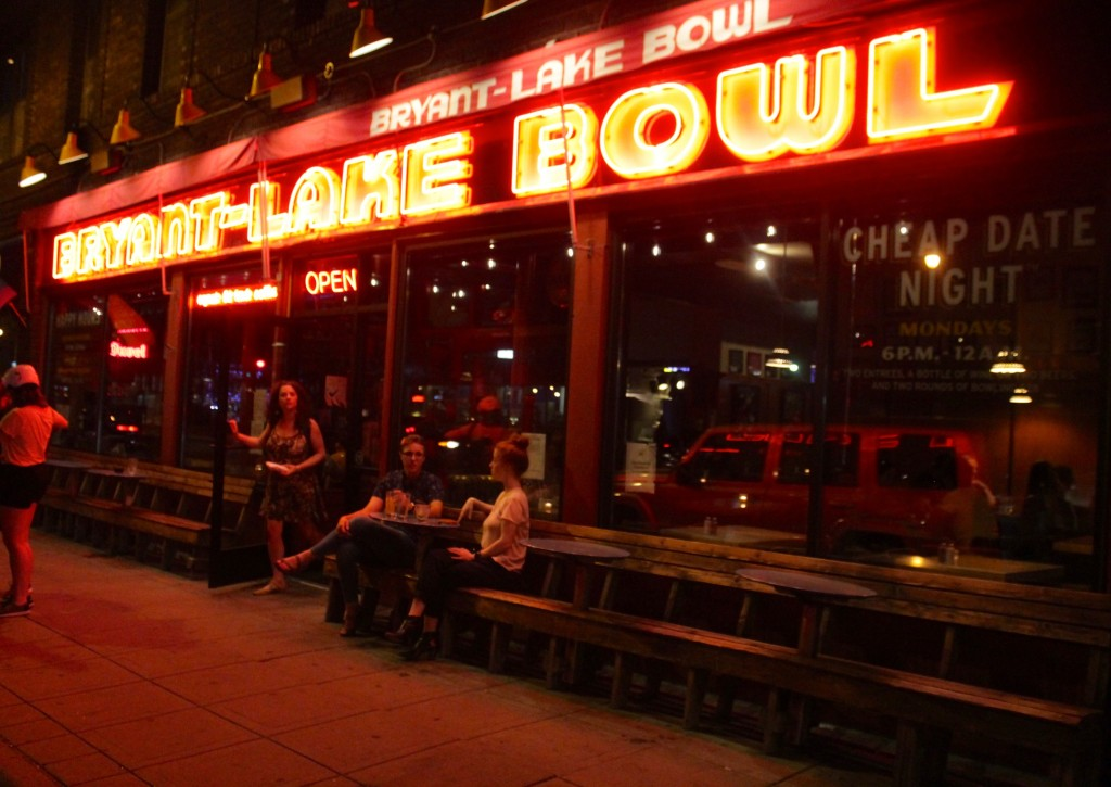 Bryant Lake Bowl's iconic neon sign. Photo by Austen Macalus