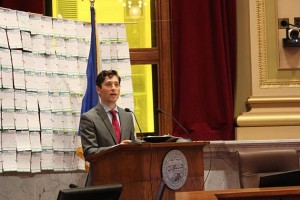 Jacob Frey unveiled the first budget of his mayoral term Wednesday. Photo by Dylan Thomas
