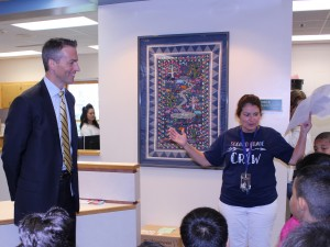 Minneapolis Public Schools Superintendent Ed Graff (left) meets a second-grade class at Bryn Mawr Elementary School on Aug. 27. Photo by Nate Gotlieb