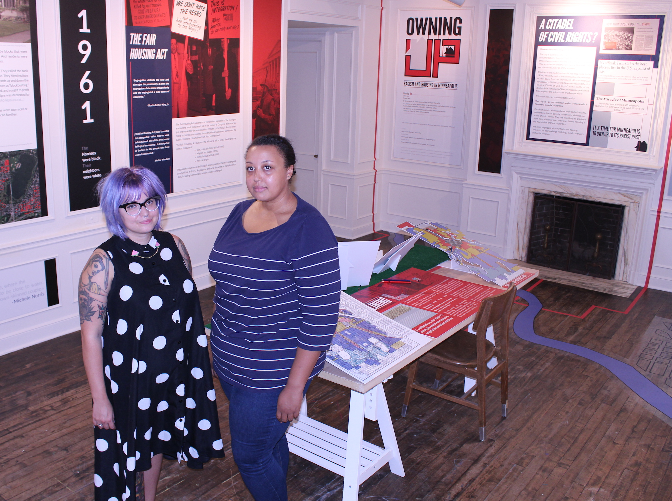 "Denise Pike and Kacie Lucchini Butcher curated the ""Owning Up: Racism and Housing in Minneapolis"" exhibit, which runs through January at the Hennepin History Museum."