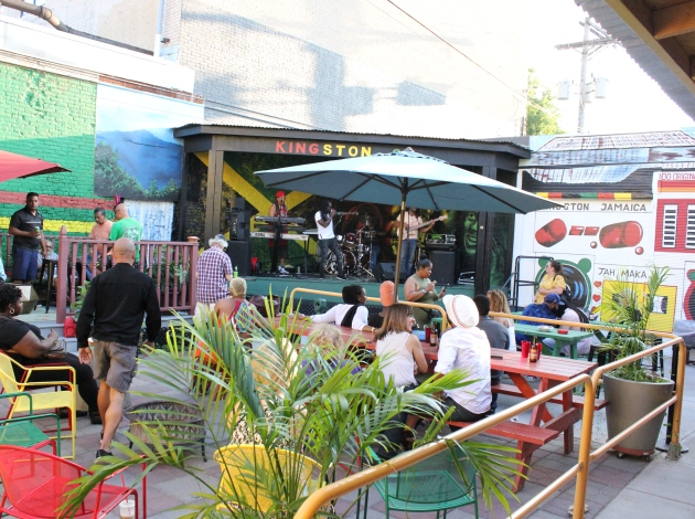 "Reggae Happy Hour is an all-ages weekly happy hour in the ""back yaad."""