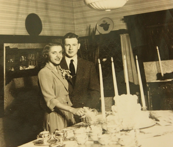 Barbara and Felix Perry were married on Sept. 11, 1943. Photo courtesy of the Perry family