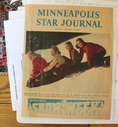 Felix Perry asked Barbara Wackerman for a date after seeing her on this cover of the Star Tribune on Jan. 19, 1941. Barbara is pictured second from right.