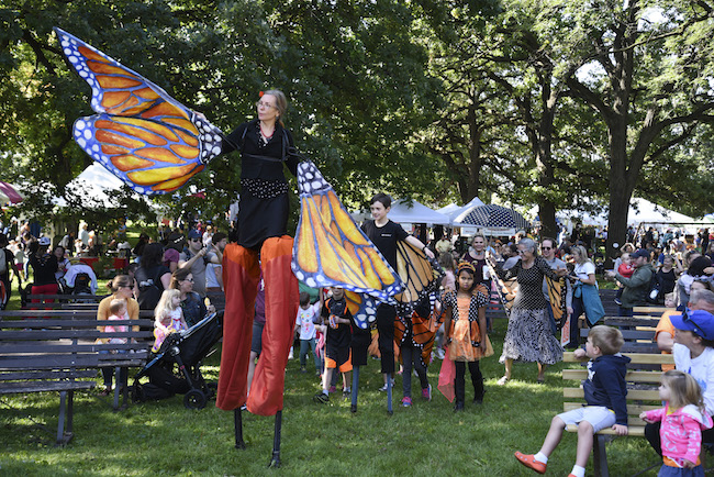 Photo of activities and performances at the 2017 Monarch Festival in Minneapolis.
