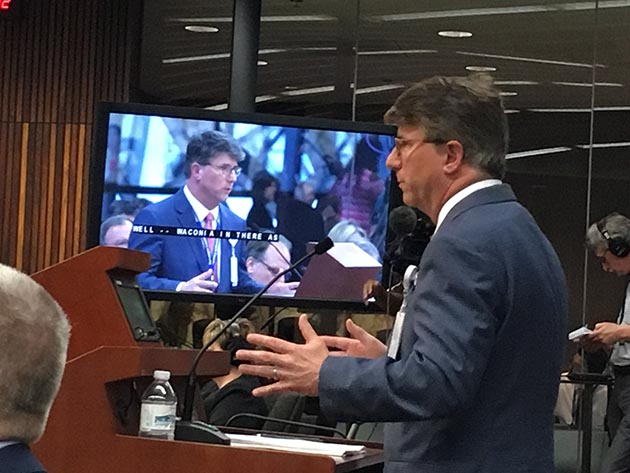 Hennepin Healthcare Chief Medical Officer Dr. William Heegaard testified June 26 in front the Hennepin County Board about a halted study on the use of ketamine as a pre-hospital sedative. File photo