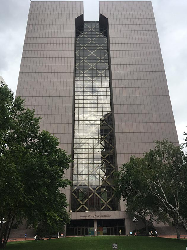 Hennepin County Government Center in downtown Minneapolis. Photo by Dylan Thomas