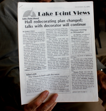 The first issue of Lake Point Views, published in 1999.