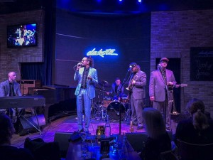 Cameron Kinghorn leads R&B group Nooky Jones on stage at the Dakota. Photo by Susan Schaefer