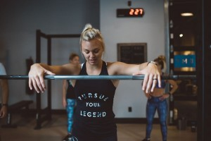 Jalisa Goetz, regional director of operations and a coach with Alchemy 365, exercises in one of Alchemy's studios. Photo courtesy of Athena Pelton.