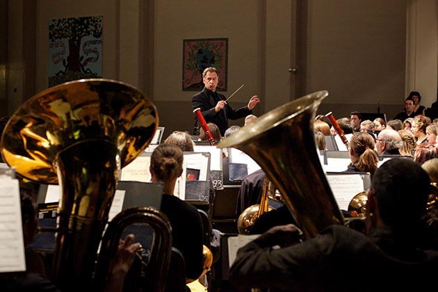 """Director Tedd Gullickson leads the City of Lakes Community Band, the latest organization to drop """"Calhoun"""" from its name following the renaming of Minneapolis' most popular lake. Submitted photo"""