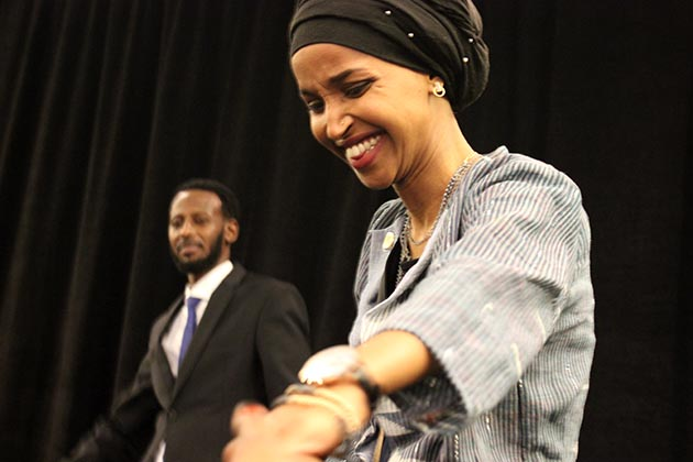 Ilhan Omar, representative-elect in Minnesota's 5th Congressional District, is the first refugee to win a U.S. House seat. Photo by Michelle Bruch