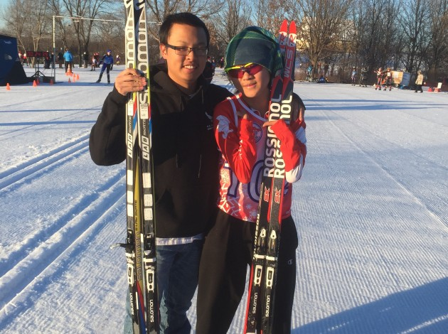 Michael LeBlanc, right, pictured with his brother Dominic. LeBlanc and his family want the Minnesota State High School League to account for athletes' disabilities when timing section and state Nordic meets. Photo courtesy Michelle LeBlanc